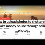 How to upload photos to shutterstock make money online through selling photos | Amaravati Tech
