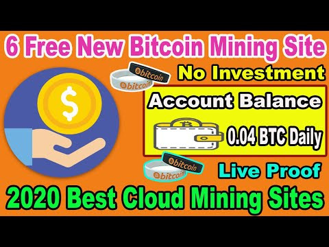 New Bitcoin Mining Website 2020   Earn 0.04 BTC Daily Without Investment   Free 6 mining sites 2020