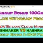 New Bitcoin Mining   Withdraw Proof   Bonus 0.0005 BTC Free   Hashmaker   Vintro   Earncryptocoin