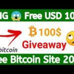 OMG 😱 Free 100 $ Giveaway New Free Bitcoin Mining Site 2020 Earn Free Bitcoin & USD Urdu/Hindi Live