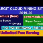 Two Legit Bitcoin Mining Sites  2020 || Live Withdrawal Proof Urdu Hindi