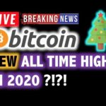 BITCOIN 💥Will 2020 See New ALL TIME HIGHS?❗️LIVE Crypto Analysis TA & BTC Cryptocurrency Price News
