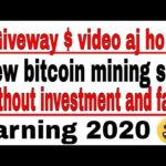 # Giveway $ New bitcoin mining site without investment 2020| Technical Attay