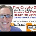 CryptoDad Live Q & A: Happy 11th Birthday Bitcoin Genesis Block!