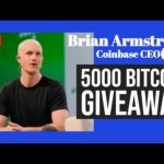 🔴 Coinbase CEO Brian Armstrong [LIVE] 🔴 Announce BTC GiveAway!