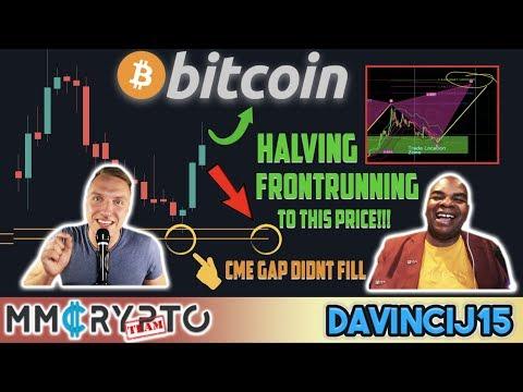 BITCOIN HALVING CRAZY FRONTRUNNING to THIS Price!!! & CME GAP DID NOT CLOSE!!! w. DavinciJ15