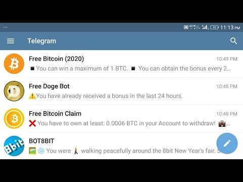 Free Bitcoin Claim Bot Telegram Bot Withdrawal Proof & Scam