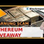 Ethereum Giveaway Scam auf Social Media Plattformen