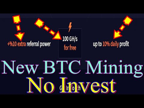 100 Gh/s FREE HASHPOWER||New Free Bitcoin Mining Site 2020||Earn 10% Daily Profit||No Investment....