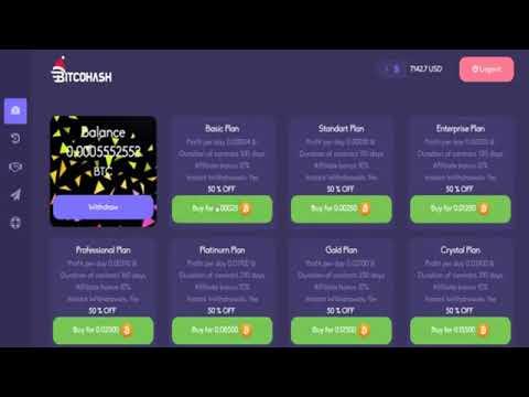 New Free Bitcoin Mining Site Bitcon Hash 2020 MEGA