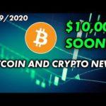 Bitcoin to $10,000 Soon? | Bitcoin & Cryptocurrency News 1/29/2020