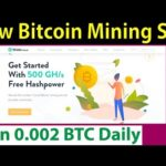 New Free Bitcoin Mining Site – Sign Up Bonus 500 GH/S – Earn 0.002 BTC Daily – Wode