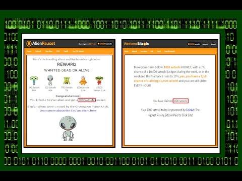 AlienFaucet + WeekendBitcoin свежий обзор / bitcoin faucets