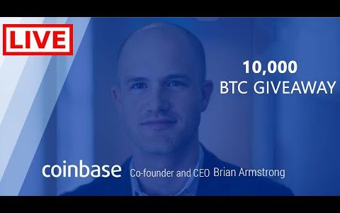Coinbase CEO announced the greatest crypto AirDrop. 10,000 Bitcoin Giveaway. LIVE 🛑