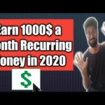 EArn money EASily in 2020 Passive 1000$ a Month recurring Money online job