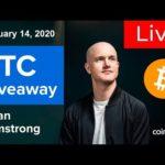 Coinbase CEO Announced BTC Air-Drop. 10,000 Bitcoin Giveaway. LIVE 🛑