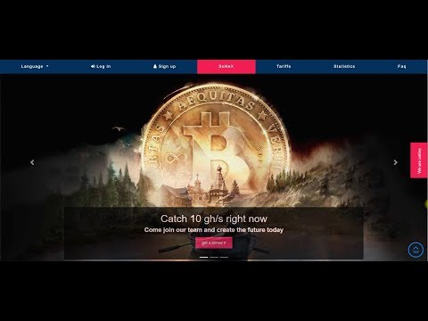 NEW FREE BITCOIN MINING SITE 2020  SoNeX Cloud  Free 10 GH/S For Signup  EARN BTC