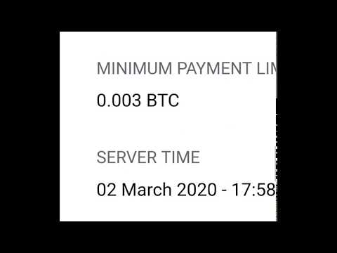 Earn Bitcoin mining your mobile and PC 0.003 per day