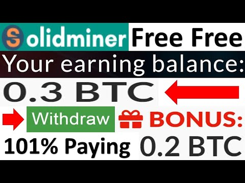 bitcoin mining solidminer site 2020|new update|lifetime earning solution