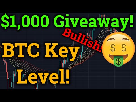 $1,000 Bitcoin Giveaway! Bullish Cryptocurrency News! BTC Key Resistance! (Bybit Trading + Analysis)