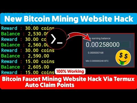New Bitcoin Mining Website Hack Via Termux | Earn Free BTC | Auto Claim Points | 100% Working