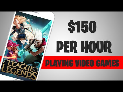 EARN $150 PER HOUR PLAYING VIDEO GAMES (Make Money Online)