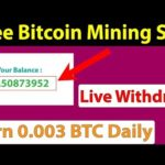 Free Bitcoin Mining Site – Live Withdraw – Earn 0.003 BTC Daily – Btc coin face