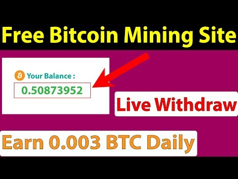 Free Bitcoin Mining Site - Live Withdraw - Earn 0.003 BTC Daily - Btc coin face