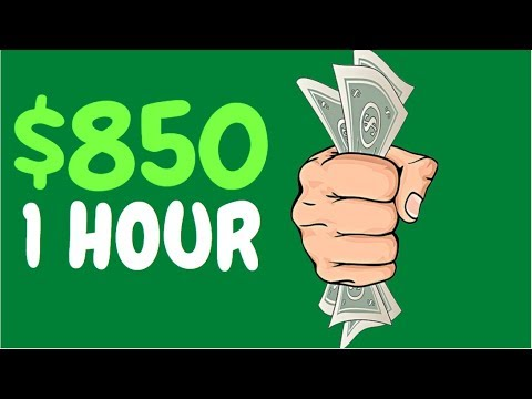 Earn $850 in 1 Hour AUTOMATICALLY! (Easy Way to Make Money Online)
