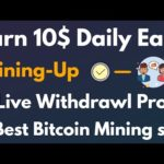 Top Free Bitcoin Cloud Mining Site Mining-Up Live Withdrawl Proof - Get Free 50 GH/s Bonus