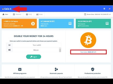 Coco-x.cc New Double Bitcoin Mining Sites 200% After 24 Hours Legit Sites