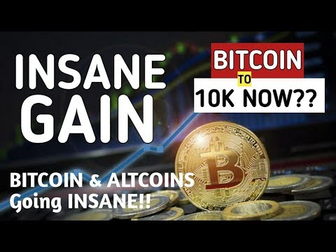 INSANE GAIN!! BITCOIN TO $10K NOW??? BITCOIN ALTCOINS MAD RALLY!! Bull Trap or Real Thing?
