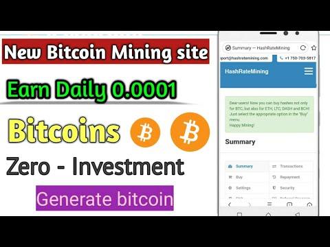 HashRateMining - Free Bitcoin Mining Site   Get Bitcoin 0.0001 Daily   Zero invest , Urdu Hindi 2020