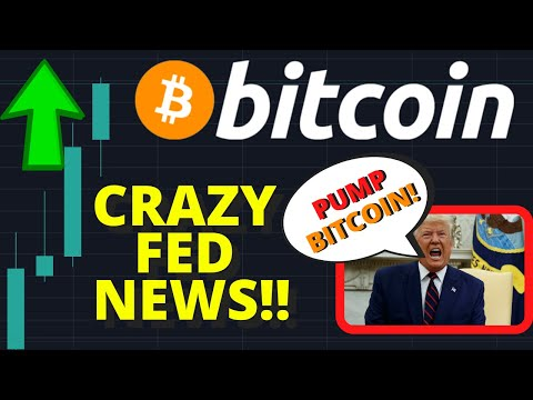 CRAZY!!! BULLISH BITCOIN NEWS!! TRUMP & FED COULD PUMP BITCOIN PRICE TO $10,000