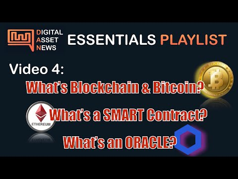 What is Bitcoin, Blockchain & DLT? What is a Smart Contract? What is an ORACLE? ETHEREUM CHAINLINK