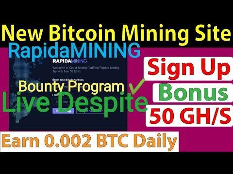 RapidaMINING bitcoin mining ⚒️site with bonus registratio 50GH/✔️s and many bonus ✔️LIVE Deposit