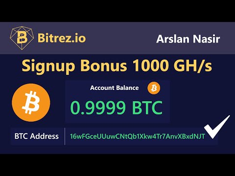 Bitrez.io - Earn Free Bitcoin 2020 | New Free Bitcoin Mining Site - Free Signup Bonus 1000 GH/s