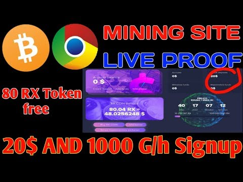 New Bitcoin Mining site 20$ Bonus Live Proof | how to earn free Bitcoin in 2020