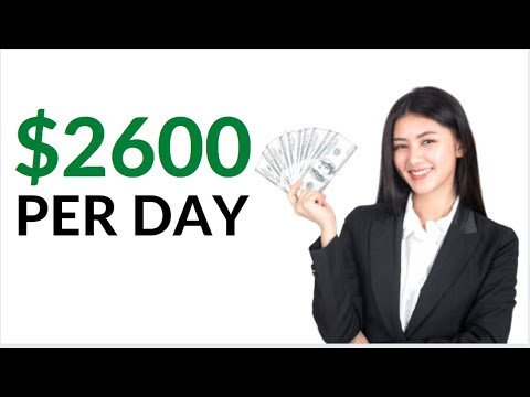 Earn $2600 Per Day for FREE AUTOMATICALLY! (Make Money Online)