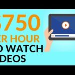 Earn $750 in 1 Hour Just By WATCHING VIDEOS! (Make Money Online)