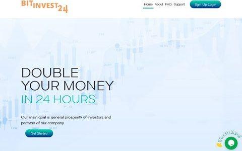 Bit-Invest24 New Double Bitcoin Mining Sites 200% after 24 Hours Best legit sites