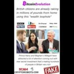Bitcoin Evolution Harry and Meghan -  Scam and Fake News Alert!