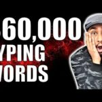 $60000 Just Typing Words | How To Make Money Online Episode 2