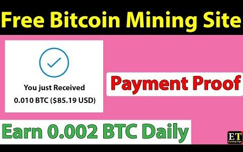 New Free Bitcoin Mining Site – With Payment Proof – Freemining