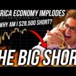 AMERICA MARKET CRASH! Bitcoin Price DUMP! How bad will it get? Live Trading BTC! ETH & DOWJ Analysis