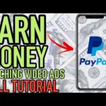 EARN MONEY ONLINE WATCHING VIDEO ADS 💰 Earn PayPal Money Tutorial 2020