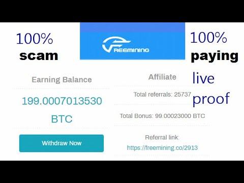 Freemining.co website scam or  legit   new free bitcoin cloud mining website 2020