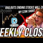 BITCOIN WEEKLY CLOSE! STOCK CRASH IMMINENT! WORLD BUSINESS NEWS! Live Trading BTC! ETH DOWJ Analysis