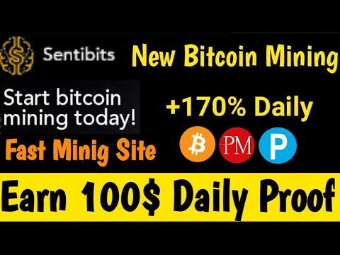 Sentibits - New Bitcoin Mining Site 2020   Earn 100$ Daily Live Payment Proof 575% Profit