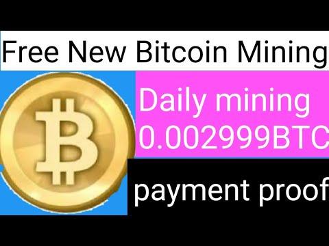 New free Bitcoin mining daily mining0. 00029999 BTC Ki// no investment